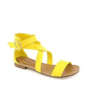 Yellow Flat Sandal