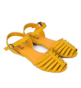 Yellow Flat Sandals