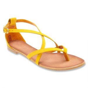 Yellow Flat Sandals Photos