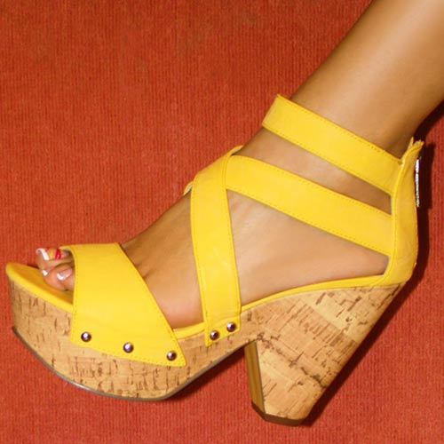 Yellow Wedge Sandals Craftysandals Com