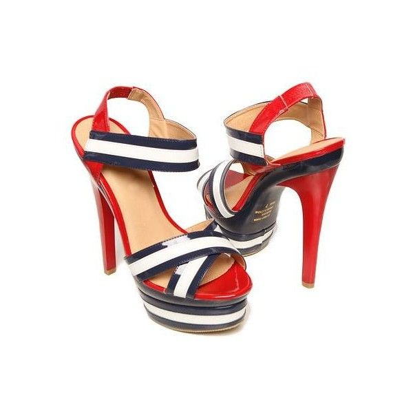 Red White and Blue Sandals