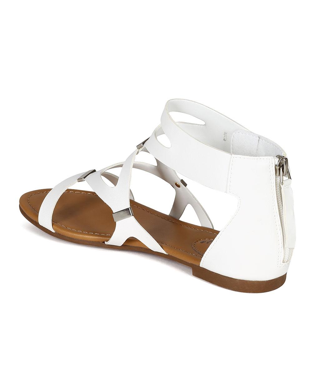 White Gladiator Sandals   CraftySandals.com