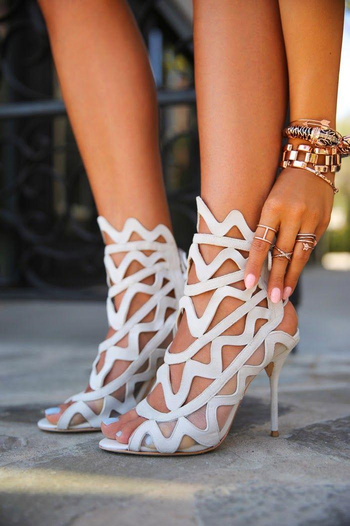 White Gladiator Sandals | CraftySandals.com