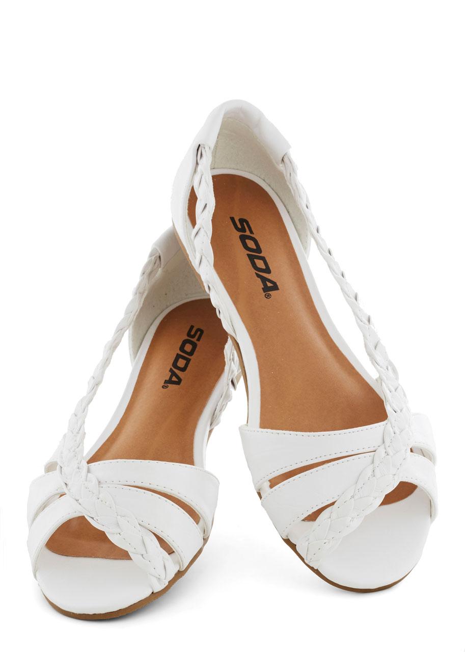 White Flat Sandals | CraftySandals.com
