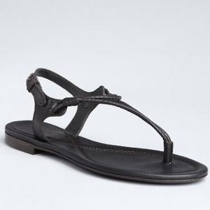 Black T-Strap Sandals | CraftySandals.com