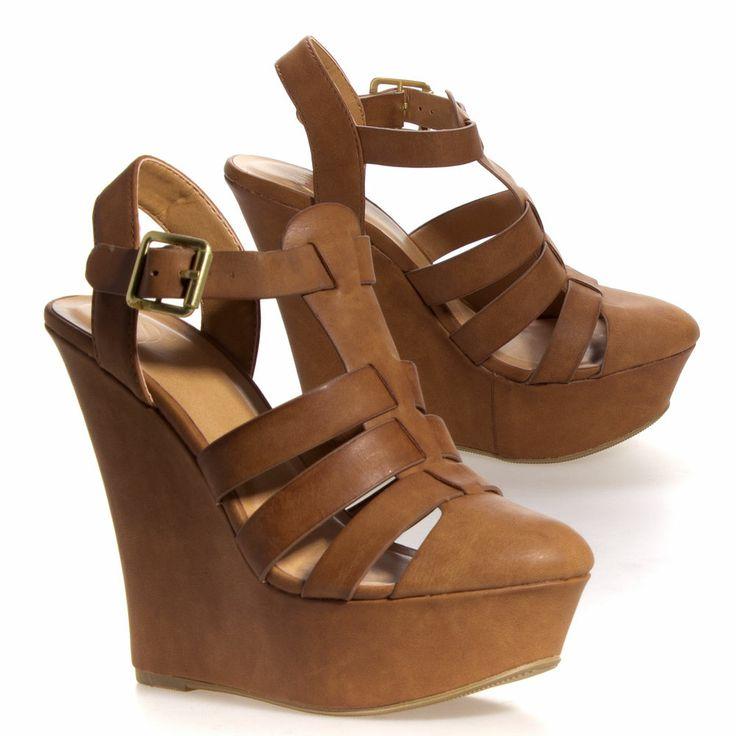 Closed Toe Wedge Sandals
