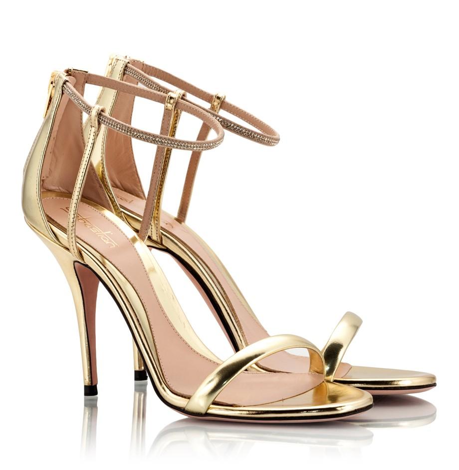 Gold High Heel Sandals | CraftySandals.com