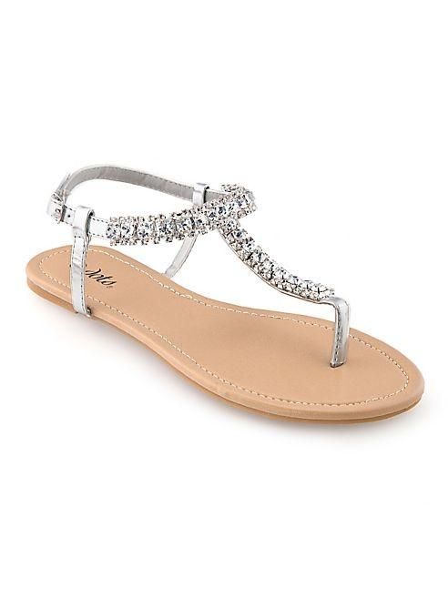 Rhinestone Flat Sandals | CraftySandals.com