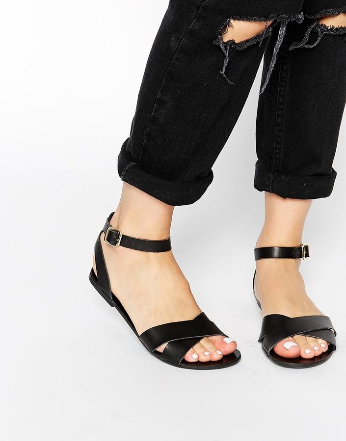 Black Leather Sandals | CraftySandals.com
