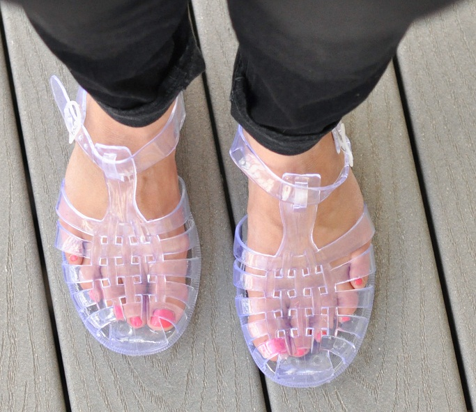 Clear Jelly Sandals | CraftySandals.com