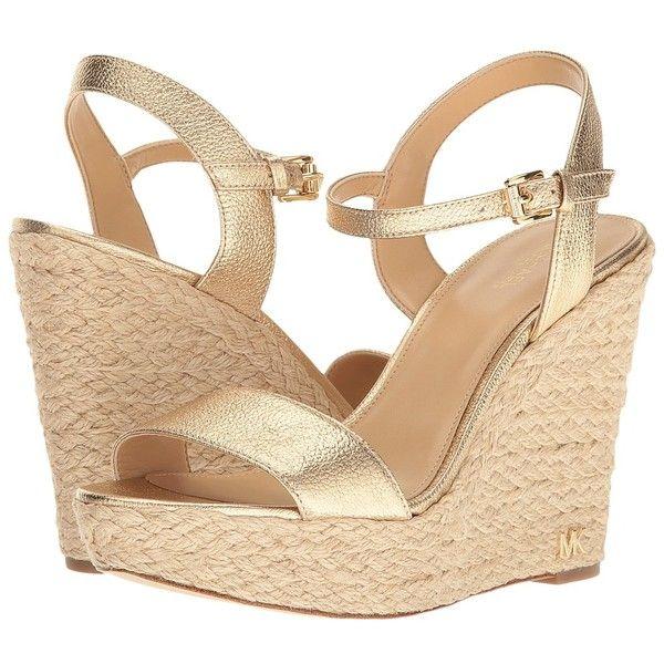 Gold Wedge Sandals | CraftySandals.com