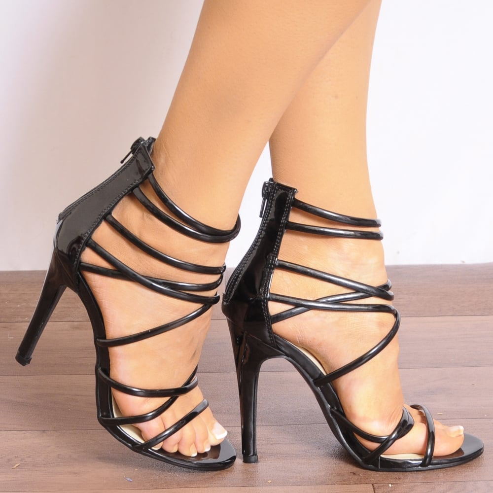 order the sale of shoes big sale Black Strappy Sandals | CraftySandals.com