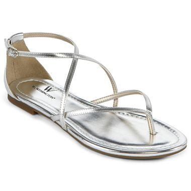 Silver Flat Sandals | CraftySandals.com