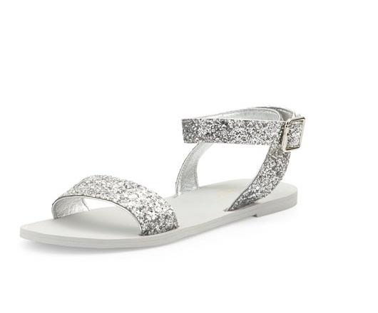 Silver Flat Sandals   CraftySandals.com