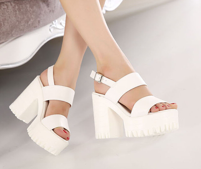 White Platform Sandals | CraftySandals.com
