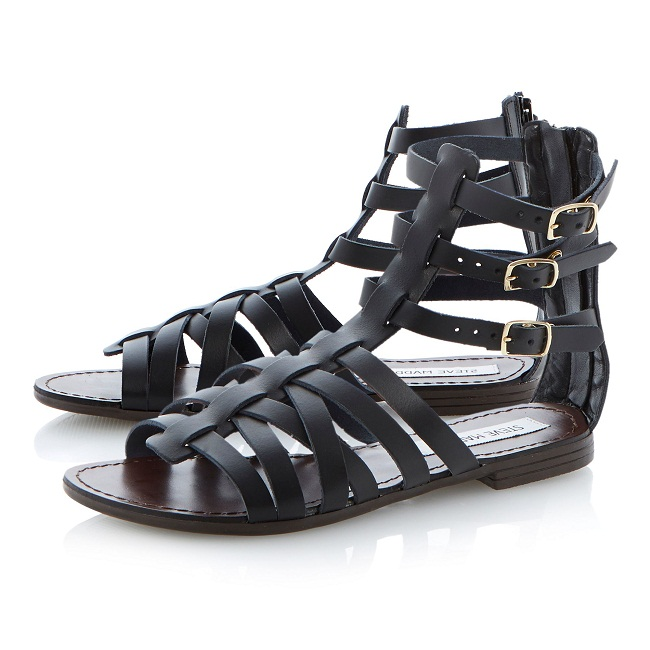 Black Gladiator Sandals | CraftySandals.com