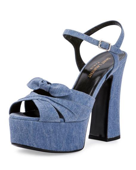 Denim Platform Sandals   CraftySandals.com