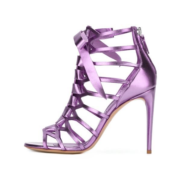 Purple Gladiator Heels