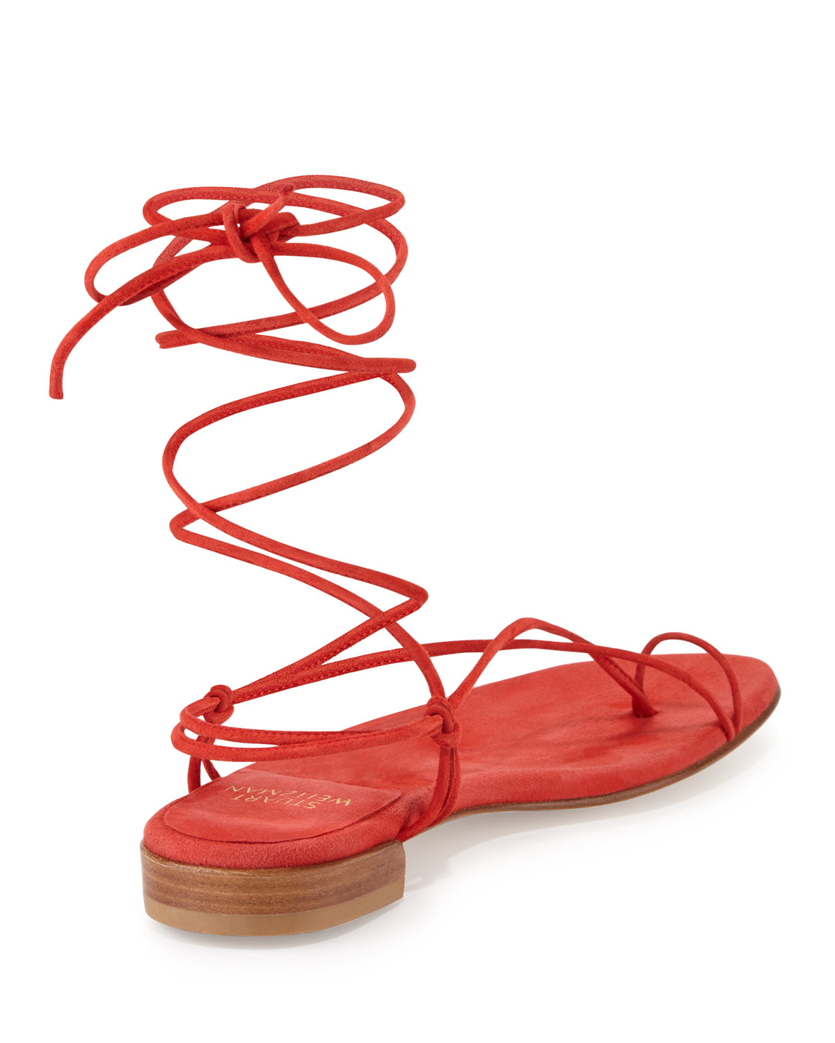 Red Lace-up Sandals | CraftySandals.com