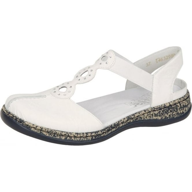 White Closed-toe Sandals
